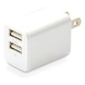 USB充電器 cubeタイプ224 CUBEAC224WH [ホワイト]