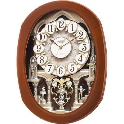 【クリックで詳細表示】シチズン 電波掛時計「スモールワールドコンベル」 4MN467RH06