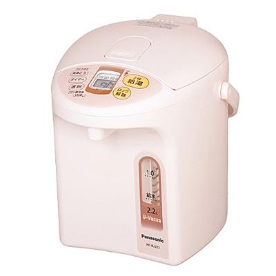 【クリックで詳細表示】パナソニック マイコン沸騰ジャーポット お茶のおいしさを引き立てる「ダイヤモンドフッ素&備長炭沸かし」 (NCBJ222) NC-BJ222