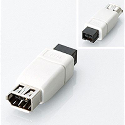 【クリックで詳細表示】【5個セット】コネクタ変換アダプタ/IEEE1394/6pin-9pin :AD-IE6FT9M