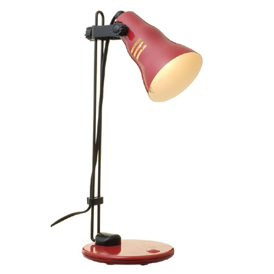【クリックで詳細表示】YZ (省エネタイプ)電球型蛍光灯D型40Wタイプ電球色を使用したスタンドライトレッド SDED40EL14RD