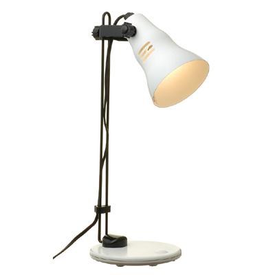 【クリックで詳細表示】YZ (省エネタイプ)電球型蛍光灯D型40Wタイプ電球色を使用したスタンドライトホワイト SDED40EL14WH